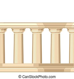 Seamless pattern with doric antique greek colonnade