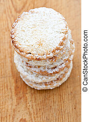 Short crust pastry mince pies - Pile of short crust pastry...