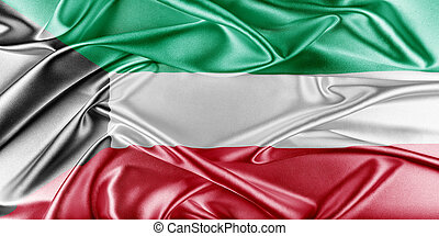 Kuwait Flag. Flag with a beautiful glossy silk texture.