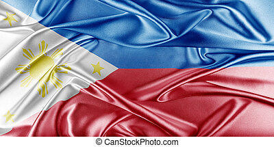 Philippines Flag Flag with a beautiful glossy silk texture