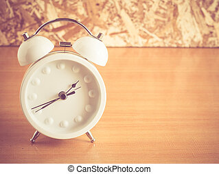 alarm clock with filter effect retro vintage style