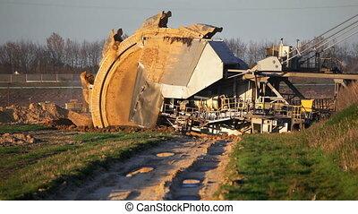 Giant Bucket Wheel Excavator - A giant Bucket Wheel...