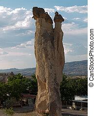 Rock formations in Goreme National Park . Cappadocia.Turkey