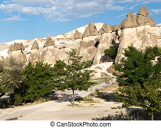 Rock formations in Goreme National Park CappadociaTurkey