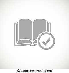 Chosen book - Simple vector icon with grey image of book...