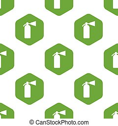 Fire extinguisher pattern - Fire extinguisher silhouette in...