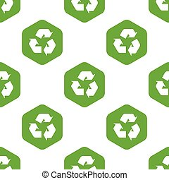 Recycle sign pattern