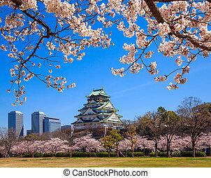 japón,  Osaka, castillo,  Osaka