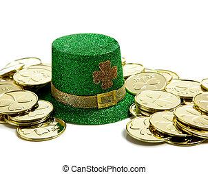 C/, Patricks, día, decoración, oro, pesos,...