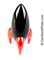 Black Rocket on white background