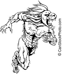 mascot bodies 2014 A1 - A lion man character or sports...
