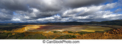 tailings pond - panoramic view of tailings pond at Rio...