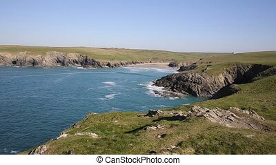 Porth Joke near Crantock Cornwall - Porth Joke beach next to...