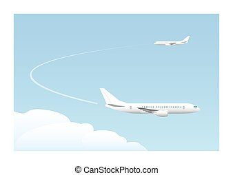 Landing approach Vector illustration EPS10 Opacity