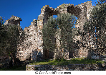 Grottoes of Catullus in Sirmione, Italy - Grottoes of...