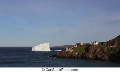 Iceberg located at Fort Amherst, St. John's, Newfoundland.