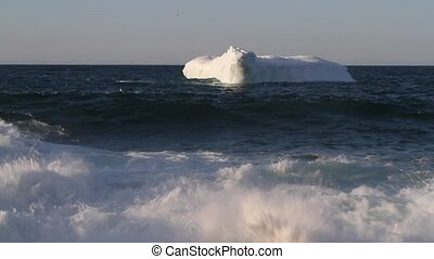 Coastal Iceberg - Iceberg with waves.