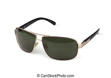 Stylish sunglasses isolated on white background
