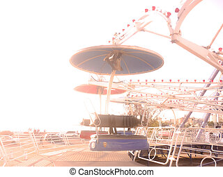 Amusement Park in Montevideo - Color edited and overexposed...