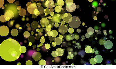 Wonderful video animation with bubbles in motion, loop HD...