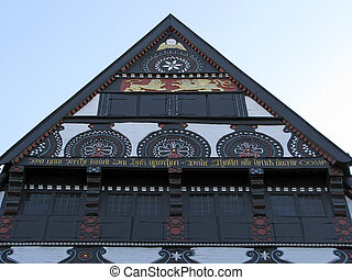 Timbered house, Lower Saxony, Germany - Timbered house in...