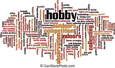 Hobby word cloud concept. Vector illustration