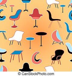 patrón, diferente, Asientos, muebles