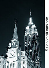 Empire State Building night view - NEW YORK CITY, NY - DEC...