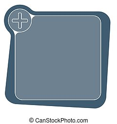 Flat frame for your text and plus symbol