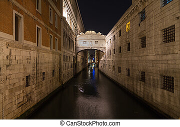 Bridge of Sighs (Ponte dei Sospiri) - A view of the Bridge...