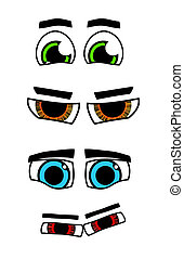 eyes - An illustration of four different comic eyes