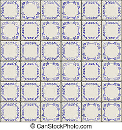 delft tiles texture - An illustration of a nice seamless...