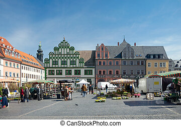 Market Square, Weimar, Germany - Weimar, Germany - April 7...