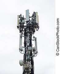 Antenna for mobile telephony - Antenna for mobile on cloudy...
