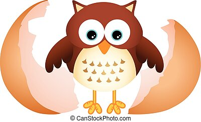Little Owl - Scalable vectorial image representing a little...