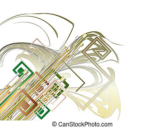 Abstract technology background - Illlustration of Abstract...
