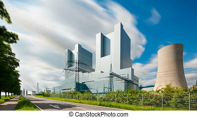 Power Station And Road Timelapse - Long exposure timelapse...