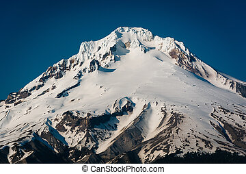 View of Mount Hood, from Tom, Dick, and Harry Mountain, in Mount Hood National Forest, Oregon.