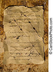Old letter - A beautiful old letter