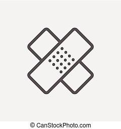 Adhesive bandage thin line icon - Adhesive bandage icon thin...