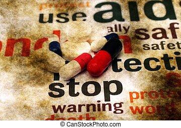 parada, Utilizar, píldoras,