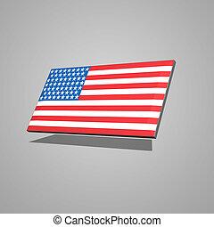 american flag in 3d