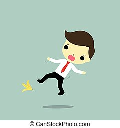 businessman and problem - businessman will fall because...