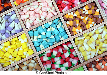 candy corn - a lot of colorful assorted candy corn in the...