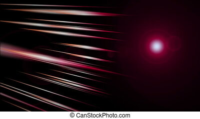 Futuristic animation with stripe object and light in motion,...