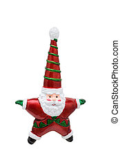 Santa Ornament - A santa ornament isolated on a white...