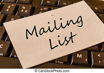 Mailing List Concept on Keyboard - Mailing List Concept on...