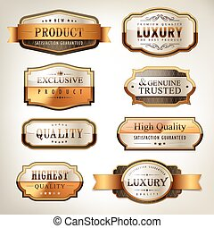 luxury premium quality golden plates collection