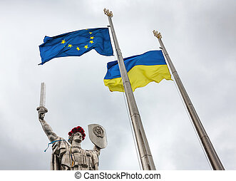 The day of remembrance and reconciliation in Kiev - KIEV,...