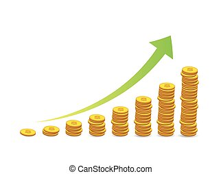 stacked coins graph